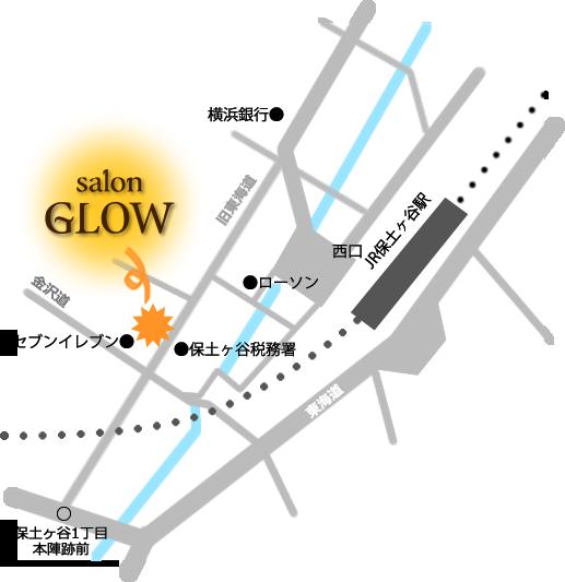 育毛専門サロン・GLOWの地図